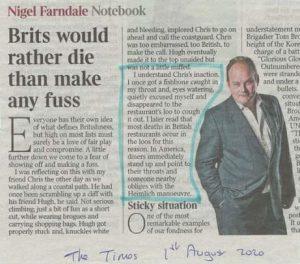 Nigel Farndale - the Times